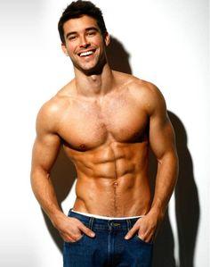 Gorgeous Brazilian model Bernardo Velasco is supremely shirtless here. Beautiful smile, beautiful body. #sexy Beautiful Men, Dead Gorgeous, Gorgeous Guys, Hello Beautiful, Beautiful People, Perfect Smile, Perfect Man, Sexy Guys, Cute Guys