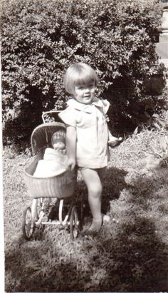 Vintage Photo of Sweet Little Blonde Girl and by TwoDiggingDivas