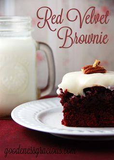 Red Velvet Brownies- Oh. My.Yum!