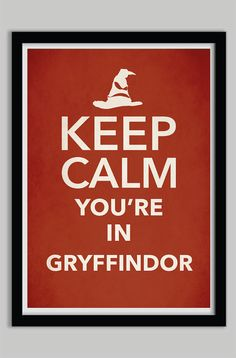 Keep Calm Gryffindor Harry Potter Poster Print by POSTERED on Etsy, $17.00