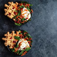 Harissa sesame from Everyday Super Food, by for my today. Egg Recipes, Healthy Recipes, Fried Eggs, Sweet Pastries, Poached Eggs, Quick Easy Meals, Waffles, Food Photography, Brunch
