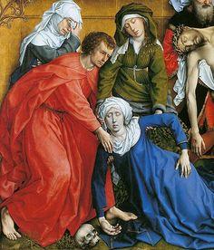 Rogier van der Weyden - Descent from the Cross (detail) - ca. 1435 - Oil on oak panel