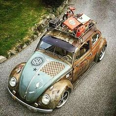 Sick paint work Vw Camper, Vw Bus, Vw Volkswagen, Beetle Bug, Vw Beetles, Vw Rat Rod, Vw Classic, Vespa, Vintage Cars