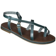 Women's Mossimo Supply Co. Lavinia Gladiator Sandals. comes in brown leather. $20 at Target