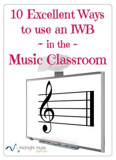 10 Excellent Ways to use an Interactive Whiteboard in the Music Classroom  http://www.midnightmusic.com.au/2011/02/10-excellent-ways-to-use-an-interactive-whiteboard-in-your-music-classroom/  Interactive Whiteboard online course for music teachers: http://www.midnightmusic.com.au/interactive-whiteboards-in-music-online-course/