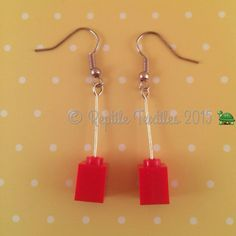 Double 2x2 Lego Bricks Cute Baby Keepsakes & Baby Announcements The Cheapest Price Fun Lego® Red And Yellow Dangle Earrings