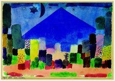 Paul Klee, Der Niesen on ArtStack #paul-klee #art