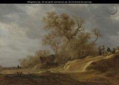Jan van Goyen - A Dune Landscape With Peasants By A Track 3 - Jan van Goyen