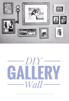 Create your own Gallery Wall in a few easy steps! http://www.blessingsbeautyandbravery.com/blog/diy-gallery-wall #interiordesign #gallery #wall #gallerywall