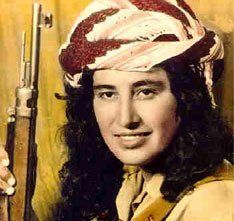 """Margaret Giwargis (- 1969) """"The Assyrian Lioness"""".   One of the first female fighters in the history of the Kurdish resistance. She quickly asserted herself as a capable fighter, commanding at the head of an otherwise all-male unit. """"Kurdish leaders deftly transformed her into a local version of Joan of Arc and handed out portraits of her to the peshmergas who carried her photos into battle as a talisman."""""""