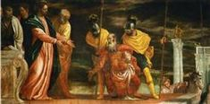 """as you have believed, let it be done for you."""" Matthew // Christ and the Centurion of Capernaum / Cristo y el centurión de Cafarnaúm // ca. Veronese and Workshop // Kunsthistorisches Museum Wien // Miracles Of Jesus Christ, Catholic Daily Reflections, Daily Gospel, Daily Prayer, Kunsthistorisches Museum Wien, Renaissance, Roman Centurion, The Centurions, Roman Soldiers"""