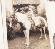 Vintage Pony Ride Photo. $12.00, via Etsy.