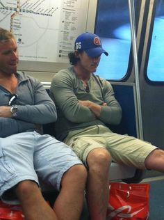 Luke Evans swear to god it looks likes hes on the T in boston in this pic.