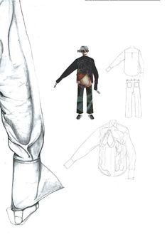 Fashion Sketchbook layout - shirt drawings, fashion design portfolio // Bryan Conway