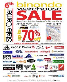 6th Binondo Warehouse Sale in April 2014 - http://outoftownblog.com/6th-binondo-warehouse-sale-april-2014/