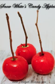 Snow White's Candy Apples Recipe
