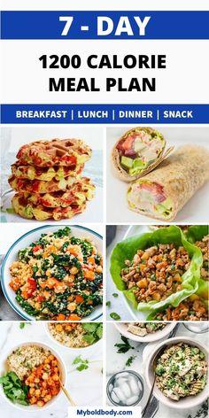 1300 Calorie Meal Plan, 1500 Calorie Diet, Healthy Low Calorie Meals, Low Calorie Dinners, Healthy Foods To Eat, Meals Low In Calories, Healthy Choice Meals, Low Fat Meals, Simple Healthy Meals