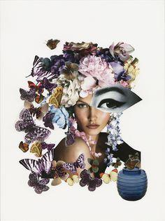 ButterflEYES, 2014 original collage for Convivio Milano ad campaign - Claudia Scarsella