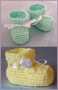 baby booties - free crochet pattern