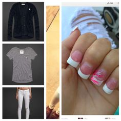 Outfit for school and French nails for school