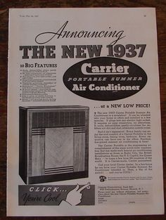 1957 General Electric Ad Quot Thinline Air Conditioner Quot Home