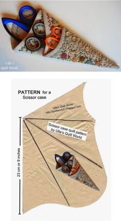 Neat idea - scissor pouch for 2! Pattern.