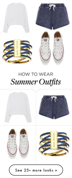 """summer outfit on fleek"" by nsoliveras-1 on Polyvore featuring Michael Kors, Acne Studios, Converse, women's clothing, women, female, woman, misses and juniors"