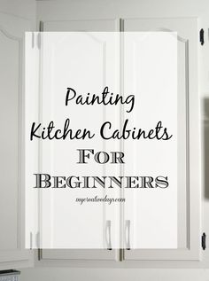 Kitchen Makeover : Tips For Painting Kitchen Cabinets For Beginners from My Crea. Kitchen Makeover : Tips For Painting Kitchen Cabinets For Beginners from My Creative Days New Kitchen Cabinets, Kitchen Paint, Kitchen Redo, Kitchen Ideas, Kitchen Makeovers, Kitchen Tips, How To Paint Kitchen Cabinets White, Diy Kitchen Makeover, Reface Cabinets
