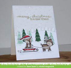 With the Lawn Fawn Lawn Cuts Collection Toboggan Together Dies, you'll be able to create beautiful, one-of-a-kind Christmas paper crafts that will bring holiday Christmas Paper Crafts, Christmas Tag, Card Making Inspiration, Making Ideas, Xmas Cards, Holiday Cards, Advent, Winter Karten, Lawn Fawn Blog