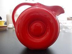Hall Red Doughnut Retro Atomic Pitcher by MyVintageTable2U