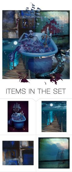 """""""Sail on the Rising Tide"""" by sm-designs ❤ liked on Polyvore featuring art and artflashmob1"""