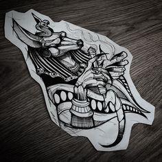 Tattoo Designs for Future Tattoos - Art - Tattoo Dog Tattoos, Black Tattoos, Body Art Tattoos, Hand Tattoos, Sleeve Tattoos, Anubis Tattoo, Tattoo Sketches, Tattoo Drawings, Tatoo Naruto