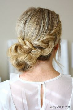 Dutch Braid Holiday Updo