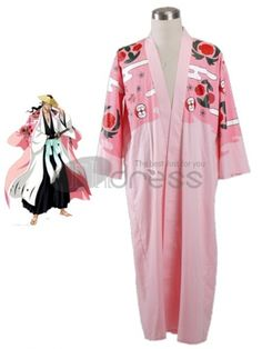 Bleach Cosplay-Bleach Kyoraku Shunsui Kimono 65 Cotton 35 Polyester Cosplay C