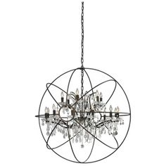 Copy cat chic find restoration hardware foucaults orb crystal iron large galaxy chandelier from the brayden home event at joss and main aloadofball Images