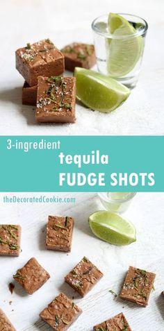 boozy fudge: AWESOME 3-ingredient tequila fudge shots