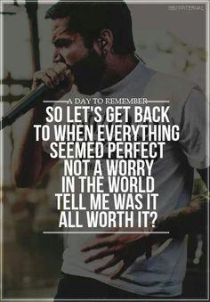 Day to remember lyrics I Love Music, Music Is Life, Good Music, My Music, House Music, Adtr Lyrics, Music Lyrics, Band Quotes, Lyric Quotes