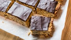 Three ways with lunchbox baking, incl this oaty banana slice - a great alternative to sugar-laden bought muesli bars.