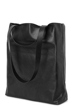 Weekday Sweet Leather Tote in Black
