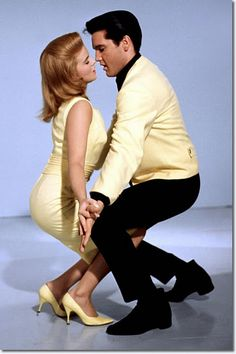 "Elvis and Ann Margret in Viva Las Vegas 1964 #elvis #presley-----------  Yes, It's An ""Elvis Sings"" Movie, But It's, By Far, His Best Of This Genre!!  And, Ann Margaret SIZZLES!!  The Chemistry Is So, So Apparent!!  Rent It Soon!!"