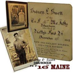 16th Maine Infantry Jones Whitman photo sword , sash & commission