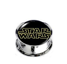 Pair Stainless Steel Star Wars Plugs for Stretched Ears - Pick Your Size, Custom Made
