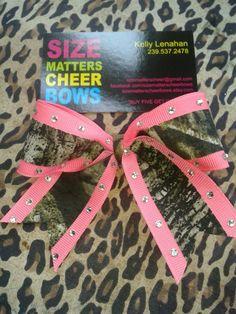 Custom Camo Cheer Bow Keychain with Diamonds.   www.sizematterscheerbows.etsy.com