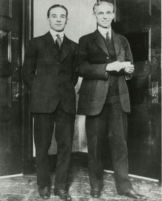 Henry and Edsel Ford, Courtesy: The Henry Ford Museum Henry Ford Museum, Edsel Ford, Detroit History, Learning To Drive, Car Museum, Ford Classic Cars, Old Fords, Hot Rod Trucks, Sunderland