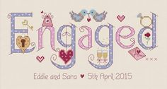 Engaged Cross Stitch Kit - £19.95 on Past Impressions | by Nia