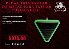 Kraken Blekk: Pedal Triangular de metal color verde - ¡Disponible en Kichink!