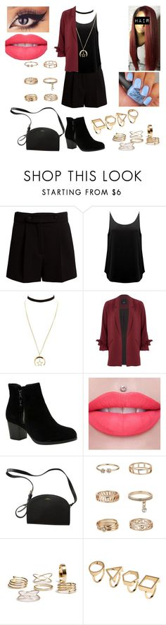 """""""Untitled #1396"""" by nerdynerdy on Polyvore featuring Valentino, BA&SH, Charlotte Russe, River Island, Skechers, Jeffree Star, A.P.C. and Miss Selfridge"""