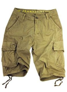 Mens Khaki Beige 8 Pocket Cargo Shorts with Belt   Men Shorts ...