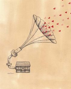 this makes me think of my boyfriend and the mixes he makes me. it's such a sweet little print.
