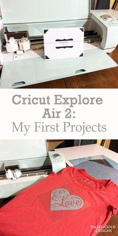 cricut explore air 2 my first projects. - hazel and gold designs, #CricutMade #ad @CricutOfficial - vinyl cutter, vinyl cutting machine, crafting, iron-on vinyl, heat transfer vinyl, custom Tee, custom cards, crafts